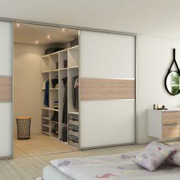 Garderobe Ringsted, Aubo Exclusiv, hvid glas/eg