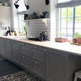 Aubø Køkken Ringted, Aubo Trend Skagerak, grå