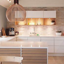 Aubo køkken Ringsted, lys og hvid køkken